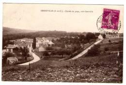 Cp , 78 , SENNEVILLE , Entrée Du Pays , Côté GUERVILLE , Voyagée 1933 - Otros Municipios