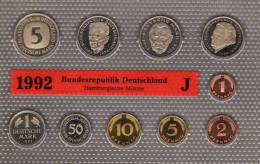 Deutschland 1992 Prägeanstalt J Stg 25€ Stempelglanz Im Kursmünzensatz Der Staatlichen Münze Hamburg Set Coin Of Germany - [ 7] 1949-…: BRD