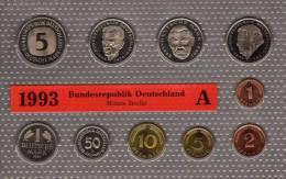 Deutschland 1993 Prägeanstalt A Stg 25€ Stempelglanz Im Kursmünzensatz Der Staatlichen Münze Berlin Set Coin Of Germany - [ 7] 1949-…: BRD