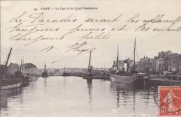 CPA 14 CAEN LE PORT ET LE QUAI VENDEUVRE - Caen