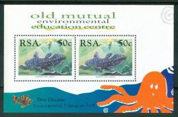 1989 Sud Africa Vita Marina Marine Life Pesci Fishes Fische Poissons Block MNH** Po124 - Blocchi & Foglietti