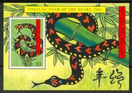 2001 Tokelau Rettili Reptiles Block MNH** Po122 - Tokelau