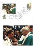FILATELIA  - FDC ROMA - VIAGGI DEL PAPA GIOVANNI PAOLO II°  - ALATRI  - FROSINONE  1984 - Papi