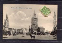 """30584    Belgio,    Courtrai,  Grand""""Place,  Les  Trois  Tours,  VG  1910 - Belgio"""