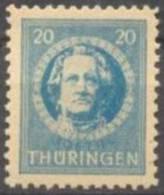 1945 Thüringen Freimarken 20 Pf Gezähnt Mi 98 AX W / Sc 16N7 / YT 15 Gepr. / Signed Postfrisch/MNH/neuf Sans Charniere - Zone Soviétique