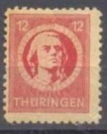 1945 Thüringen Freimarken 12 Pf Mi 97 AX At / Sc 16N6 / YT 14 Gepr. / Signed Postfrisch/MNH/neuf Sans Charniere - Zone Soviétique