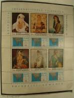 Paintings P-R Romania MNH**,1971 Complete SHEET Sheetlet, BALKAN FILA, Women - 1948-.... Republics