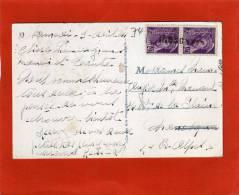 CPA ANNECY GRIFFE LINEAIRE D ARRIVEE MANOSQUE SUR MERCURE YVERT 413 - Marcophilie (Lettres)