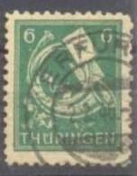 1945 Thüringen Freimarken 6 Pf Mi 95 AX Dw / Sc 16N4 / YT 12 Gepr. / Signed Gestempelt/used/oblitere - Zone Soviétique