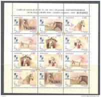 ESMP69-L3664TASC.España.Spa In.Espagne.Animales.MINI PLIEGO CABALLOS DEL 2000 (Ed. MP 69**) Sin Charnela.LUJO - Sin Clasificación