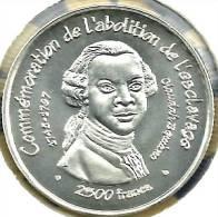 BENIN 2500 FRANCS ABOLITION OF SLAVERY MAN FRONT EMBLEM BACK 2007 ESSAI PROOF KM:E SILVER READ DESCRIPTION CAREFULLY !!! - Benin