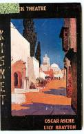 "GARRICK THEATRE  "" AN ARABIAN NIGHT "" OSCAR ASCHE LILY BRAYTON THEATER ILLUSTRATOR J. HARRER EDWARD KNOBLAUCH AFFICHE - Theatre"
