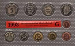 Deutschland 1993 Prägeanstalt G Stg 25€ Stempelglanz Kursmünzensatz Der Staatlichen Münze Karlsruhe Set Coin Of Germany - [ 7] 1949-…: BRD