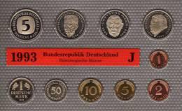 Deutschland 1993 Prägeanstalt J Stg 25€ Stempelglanz Im Kursmünzensatz Der Staatlichen Münze Hamburg Set Coin Of Germany - [ 7] 1949-…: BRD