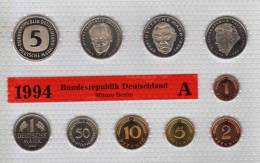 Deutschland 1994 Prägeanstalt A Stg 25€ Stempelglanz Im Kursmünzensatz Der Staatlichen Münze Berlin Set Coin Of Germany - [ 7] 1949-…: BRD