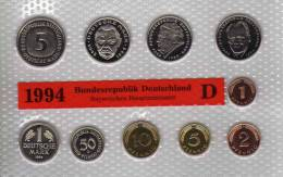 Deutschland 1994 Prägeanstalt D Stg 25€ Stempelglanz Im Kursmünzensatz Der Staatlichen Münze München Set Coin Of Germany - [ 7] 1949-…: BRD