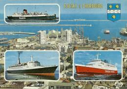 CPSM De CHERBOURG (50100) : Escale à La Gare Maritime -Navires : Maid Of Kent , Queen Elisabeth , Viking Venturer. - Cherbourg