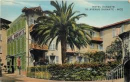 NICE HOTEL DURANTE 16 AVENUE DURANTE + PLAN AU DOS - Cafés, Hotels, Restaurants