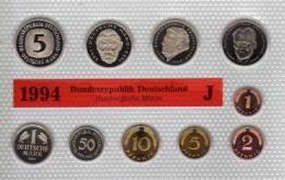 Deutschland 1994 Prägeanstalt J Stg 25€ Stempelglanz Im Kursmünzensatz Der Staatlichen Münze Hamburg Set Coin Of Germany - [ 7] 1949-…: BRD