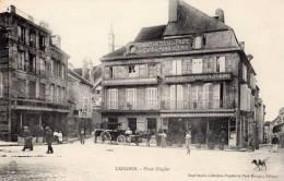 LANGRES PLACE ZIEGLER GRAND HOTEL DE LA POSTE ET CAFE DE PARIS REUNIS - Langres
