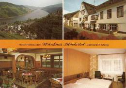 VP - B499.21 - Carte Publicitaire Format CPM GF- Allemagne - Weinhaus Blüchertal Bacharach Steeg (2 Scans) - Cartoncini Da Visita