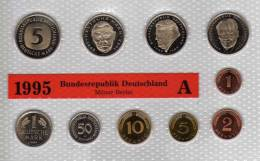Deutschland 1995 Prägeanstalt A Stg 330€ Stempelglanz Im Kursmünzensatz Der Staatlichen Münze Berlin Set Coin Of Germany - [ 7] 1949-…: BRD