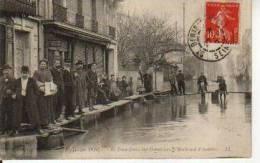 LA CRUE DE LA SEINE ILE SAINT DENIS SUR GENNEVIERS BOULEVARD D'ASNIERES PARIS - Inondations De 1910