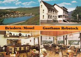VP - B499.33 - Carte Publicitaire Format CPM GF- Allemagne - Gasthaus Rebstock Briedern/Mosel (2 Scans) - Visitekaartjes