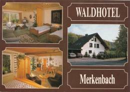 VP - B499.34 - Carte Publicitaire Format CPM GF- Allemagne - Waldhotel Merkenbach (2 Scans) - Visiting Cards