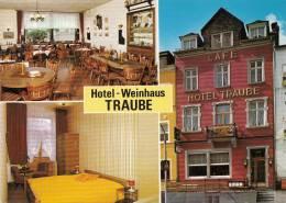 VP - B499.35 - Carte Publicitaire Format CPM GF- Allemagne - Hotel Weinhaus Raube St Goar Am Rhein (2 Scans) - Visiting Cards
