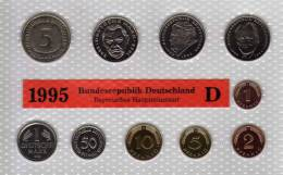 Deutschland 1995 Prägeanstalt D Stg 330€ Stempelglanz Kursmünzen-Satz Der Staatlichen Münze München Set Coin Of Germany - [ 7] 1949-…: BRD