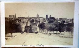 PHOTO  CARTE DE VISITE  CDV    ARLES 13  VERS 18701   VUE GENERALE  ROMAN PHOTOGRAPHE - Places