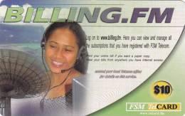 Micronesia, FSM-R-080, Billing FM, 2 Scans. - Micronesië