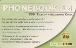 Micronesia, FSM-R-113, Twelfth Edition (Remote Memory), Phonebook.fm, 2 Scans. - Micronésie