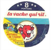 Ancienne Etiquette Fromage  Vache Qui Rit   8 Portions Les Voitures De Courses Prestigieuses - Fromage
