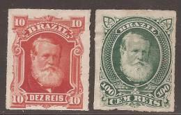Brésil 1878 Dom Pedro - 10r Et 100r Neufs Sans Gomme (unused) - Sc#68 Et 72 Cote 39.5$ - Non Classés