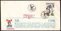 CZECHOSLOVAKIA PRAGUE 1978 - XII EUROPEAN ATHLETIC CHAMPIONSHIPS - OFFICIAL ENVELOPE - DISCUS THROW - Atletica