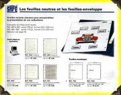 ID -  SAFE  -  Feuilles Enveloppes Transparentes Réf 459 - Grand Format, Fond Blanc