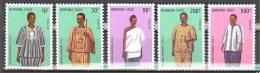Burkina Faso: Yvert N° 752/6**; MNH; Costumes - Burkina Faso (1984-...)