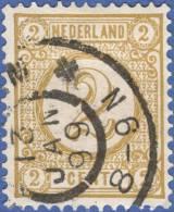 Netherlands, 2 C. 1894, Sc #36, Used - Period 1891-1948 (Wilhelmina)