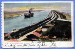 Ägypten, PORT SAID, Le Canal, Gelaufen 1912, Stempel Port Said - Ägypten