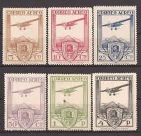 ES483-L4066TA. Spain Espagne.Aviones.CONGRESO FERROCARRILES  AEREO 1930 (Ed 483/8*)con Leve Charnela,MAGNIFICA - Nuevos & Fijasellos