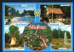 E1829 Uelsen - Graffchart, Bentheim: Freibad, Wassermuhle, Lotshook, Bungerpark / Non Viaggiata - Uelsen