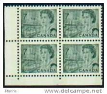 "-Canada-1967-73- ""Winnipeg Phosphor Bars"" MNH (**) - Num. Planches & Inscriptions Marge"