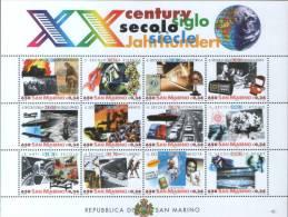 San Marino 2000 Foglietto XX Secolo   ** MNH - Unused Stamps