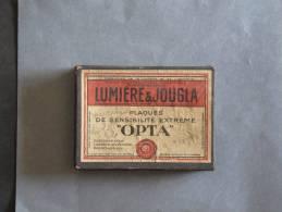 Boite Cartonnée De Plaques LUMIERE ET JOUGLA - Plaques De Verre