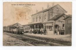 CPA 59 La Gare De TRELON GAGEON  1911 Train En Gare Animée - Sonstige Gemeinden