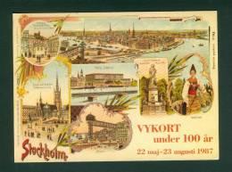 Sweden Postcard 100 Year  Exhibition Stockholm 1987 - Other