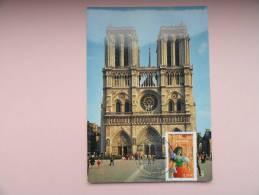 CARTE MAXIMUM MAXIMUM CARD NOTRE DAME DE PARIS  FRANCE - Eglises Et Cathédrales