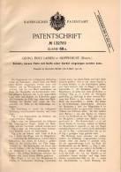 Original Patentschrift - G. Lassen In Skipperhust , Dänemark , 1901 , Schloß Mit Kurbel !!! - Historische Dokumente